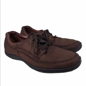Ecco Brown Leather Lace Up Dad Shoes